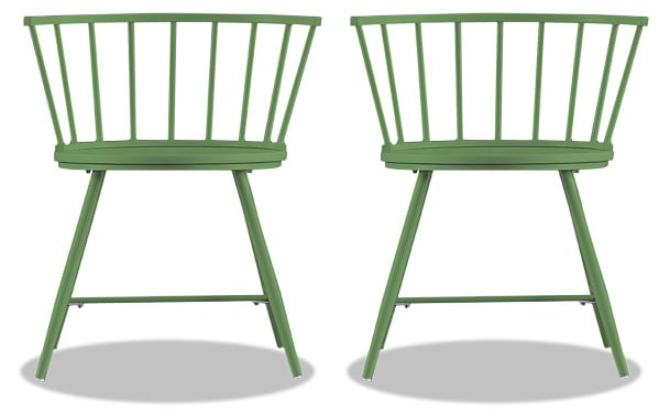 Set of 2 Shari Green Dining Chairs