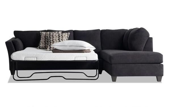 Bob U0027s Furniture Quality Home Bobs Comvirgo O Pedic Gel Sleeper Sectional
