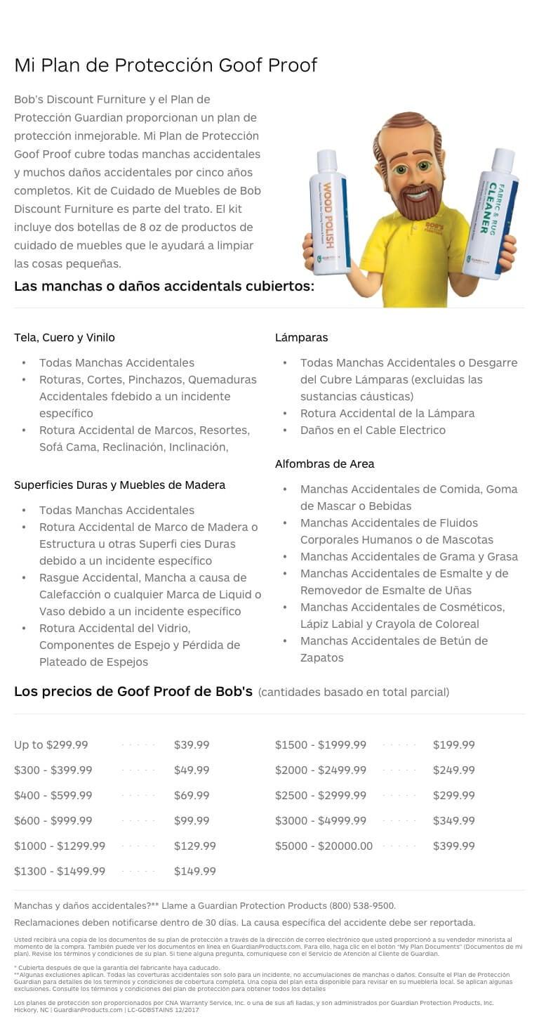 GoofProof Mobile Spanish