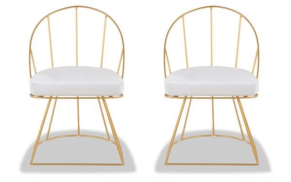 Set of 2 Kamini Velvet Dining Chairs
