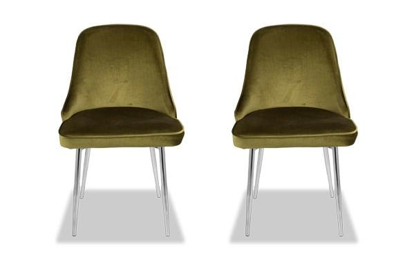 Set of 2 Sammie Velvet Dining Chairs