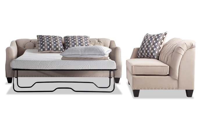Marley Bob-O-Pedic Sleeper Sofa & Chaise
