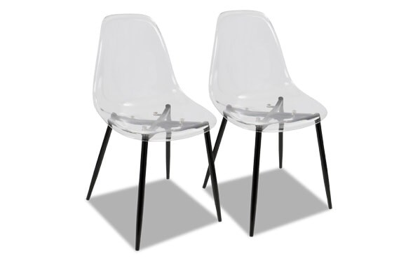 Set of 2 Clarance Black Dining Chairs